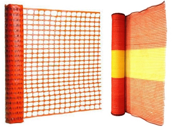 Orange and Yellow Barrier Netting