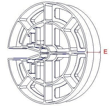 Pile cage wheel spacer dimensions