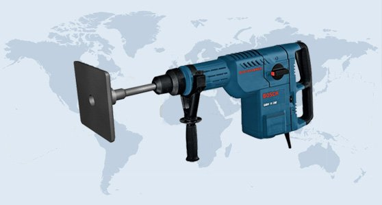 BOSCH GBH 11 DE hand held Vibrator for for small compaction tasks